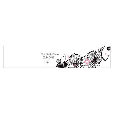 FLORAL FUSION WATER BOTTLE LABEL - AyaZay Wedding Shoppe