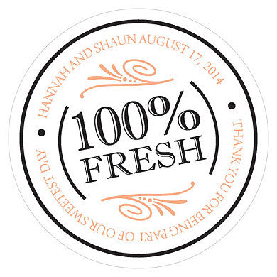 100% FRESH SMALL STICKER - AyaZay Wedding Shoppe