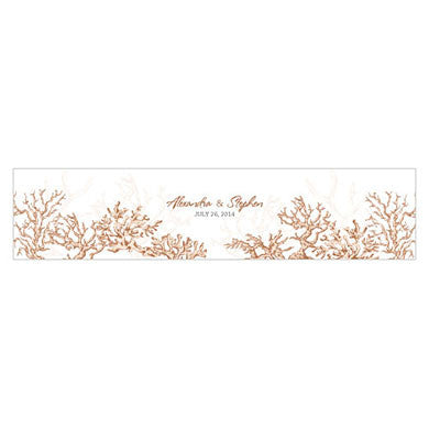 REEF CORAL WATER BOTTLE LABEL - AyaZay Wedding Shoppe