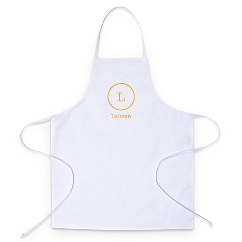 PERSONALIZED KITCHEN APRON - CIRCLE MONOGRAM - AyaZay Wedding Shoppe