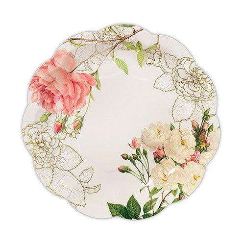 ... PINK FLORAL PRINT DISPOSABLE PAPER PLATES - 12/pkg - AyaZay Wedding Shoppe ...  sc 1 st  AyaZay Wedding Shoppe : disposable paper plates - pezcame.com