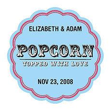 POPCORN - TOPPED WITH LOVE STICKER - AyaZay Wedding Shoppe