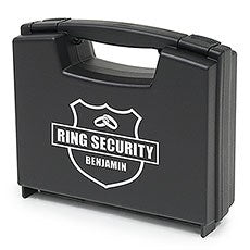 PERSONALIZED RING BRIEFCASE - RING SECURITY - AyaZay Wedding Shoppe