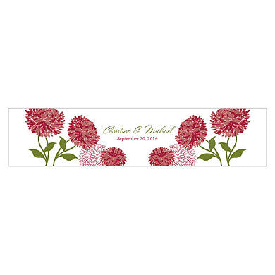 ZINNIA BLOOM WATER BOTTLE LABEL - AyaZay Wedding Shoppe