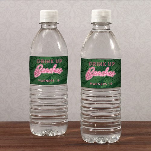 SUMMER VIBES WATER BOTTLE LABEL - AyaZay Wedding Shoppe