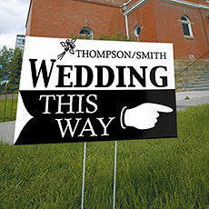WEDDING THIS WAY WEDDING DIRECTIONAL SIGN - AyaZay Wedding Shoppe