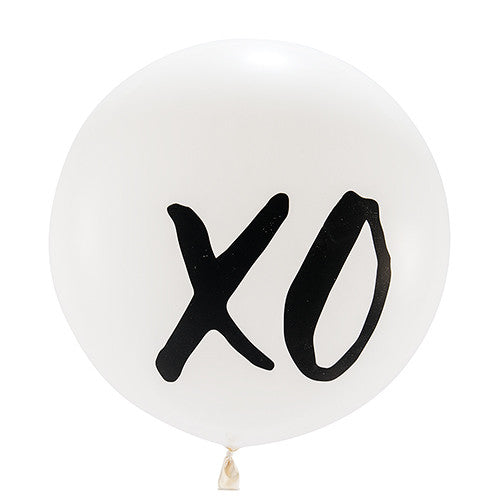 "36"" JUMBO WHITE ROUND WEDDING BALLOON - ""XO"" - AyaZay Wedding Shoppe"