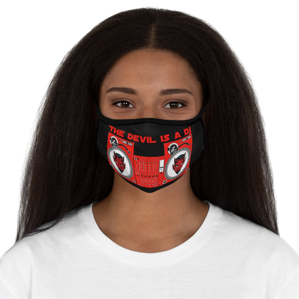 Devil Dj Fitted Polyester Face Mask