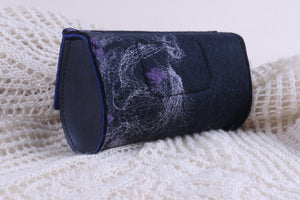 lilac silk on black