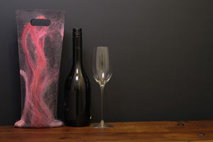 free flowing pinks and silk - wine wallet