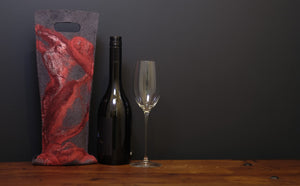free flowing reds with silk - wine wallet