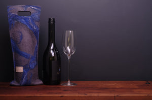 free flowing blues and silk - wine wallet