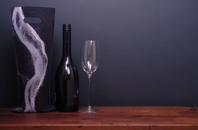 free flowing greys with silk - wine wallet