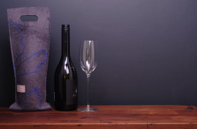 electric blue mohair - wine wallet