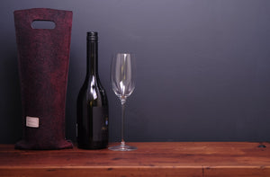 silky red - wine wallet