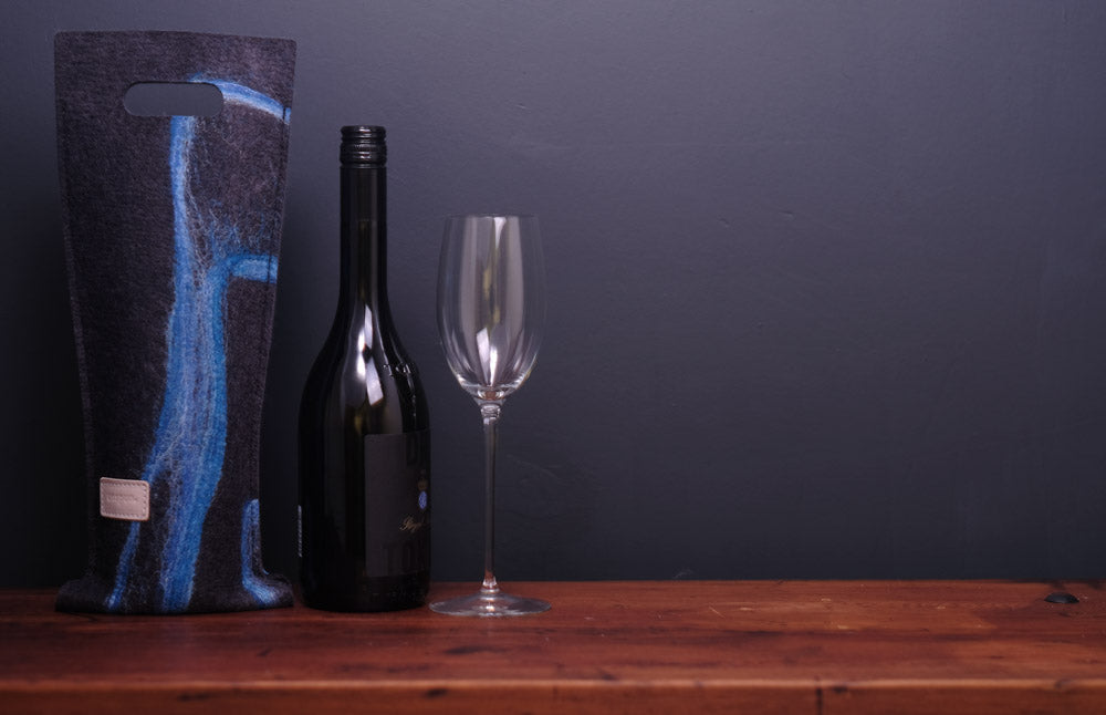 free flowing blues with silk - wine wallet