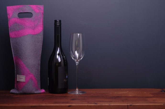 free flowing magenta pink - wine wallet