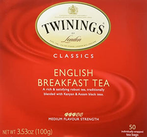 Twinings English Breakfast Tea 50 bags
