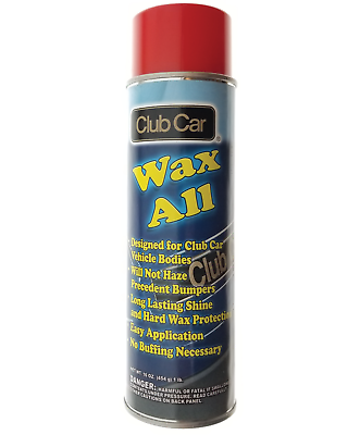 Golf Cart Wax-All Non Hazing formulation for Club Car, EZ-GO and Yamaha bodies.