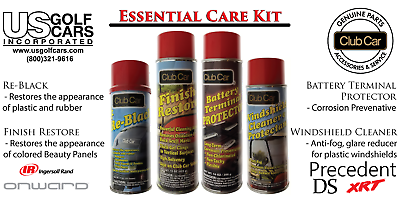 The Essentials OEM Golf Cart Care Kit for Club Car, EZ-GO,Yamaha