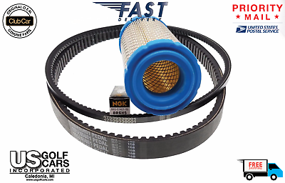 OEM Club Car Precedent 2014-UP Subaru 404cc EFI Tune Up Kit Belts/Filter/Plug