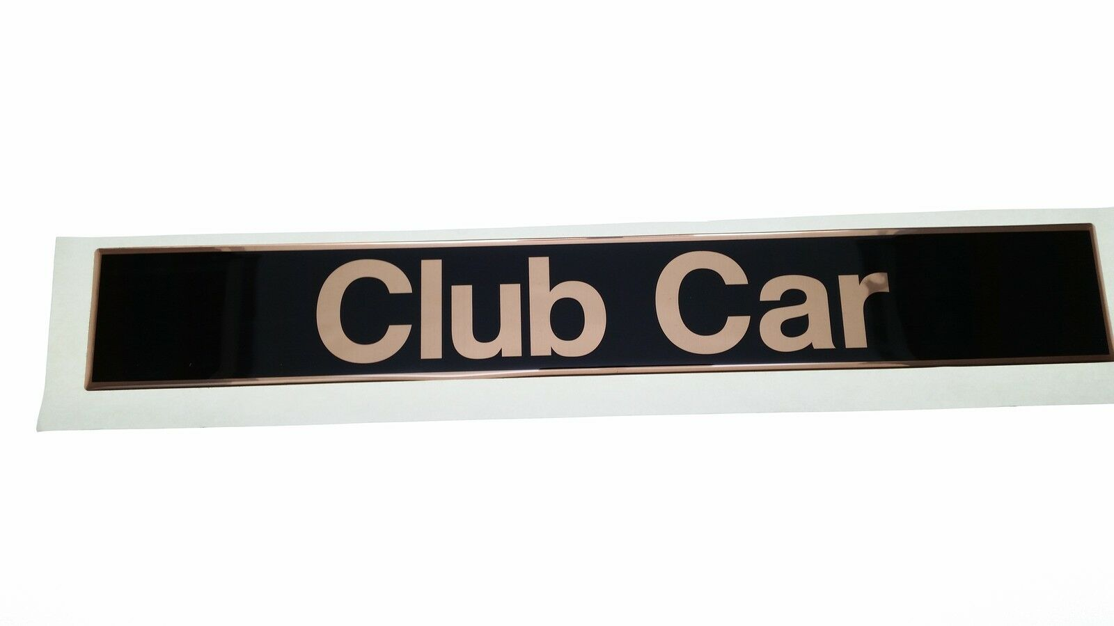 Gold Club Car Precedent Name Plate Logo -  Steel Backed adhesive 103816601