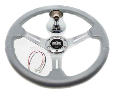 EZ-GO RXV and TXT Silver Steering Wheel with Hub Adapter