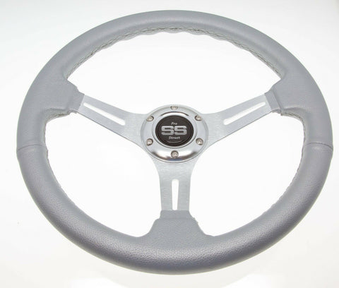 Golf Cart Steering Wheel 6 Hole Pattern - Silver