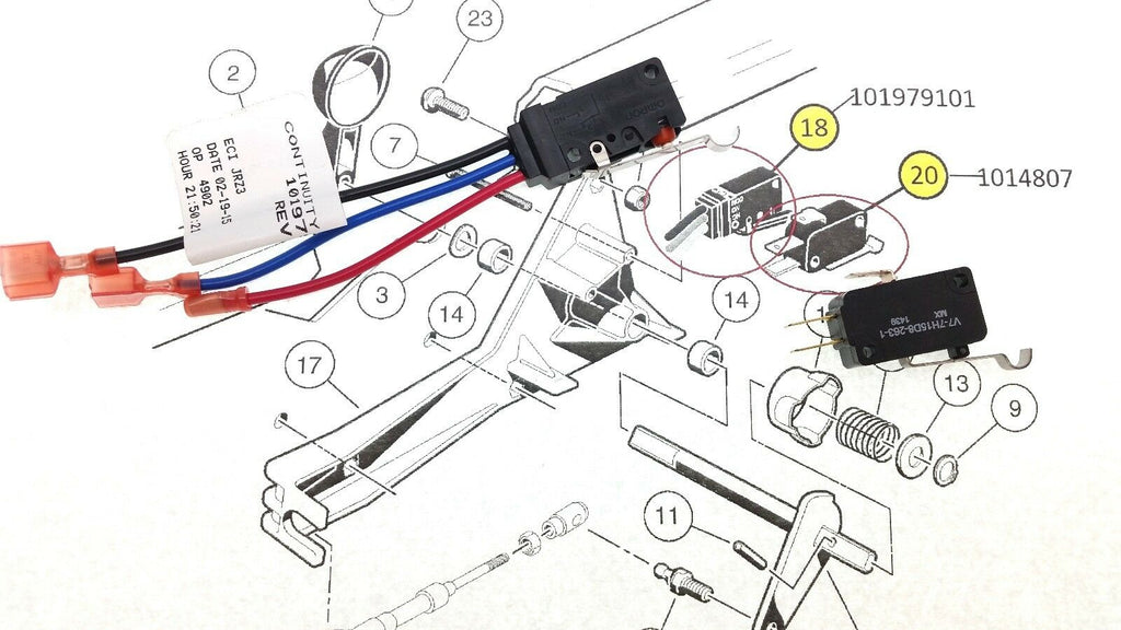 Club Car 1999-current DS GAS Micro Switch Kit 101979101