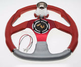 EZ-GO RXV and TXT Red Steering Wheel with Hub Adapter