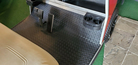 Club Car DS 1982 to Current Golf Cart Black Rubber Diamond Plate Floor Mat