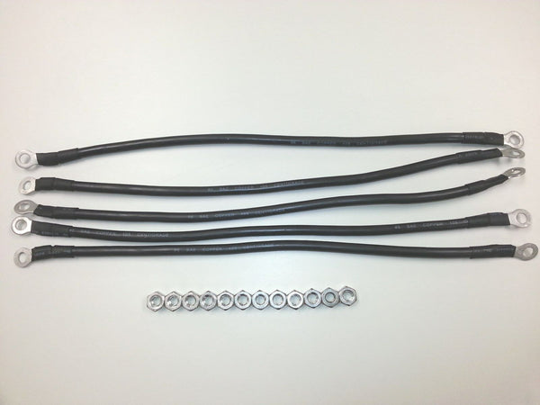 "Club Car Golf Cart Battery Cable Set. 6 gauge 16"" 48v or 36v with battery nuts"
