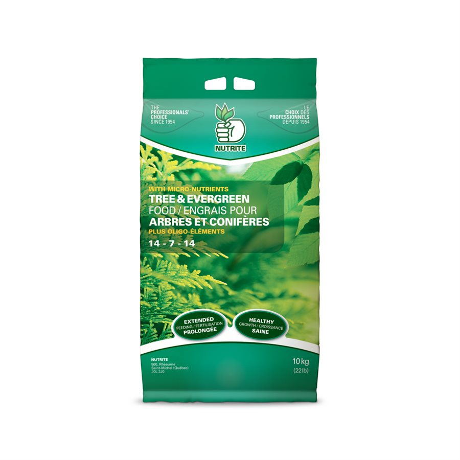 Nutrite Tree & Evergreen fertilizer 14-7-14 - 10 kg bag