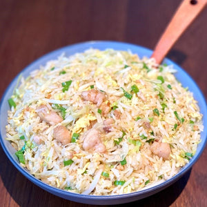 Fried Rice With Salted Fish, Chicken And Bean Sprouts
