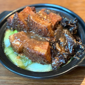 Braised Pork Belly In Five Spice With Hakka Style Served In Claypot