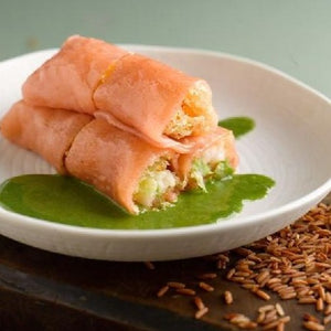 Organic Brown Rice Roll With Prawn, Hakka Style
