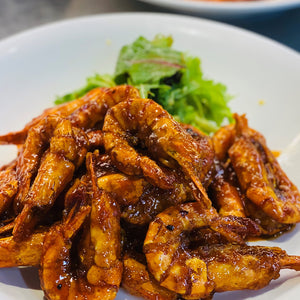 Pan-Fried Fresh Prawns With Sweet, Sour And Spicy Sauce