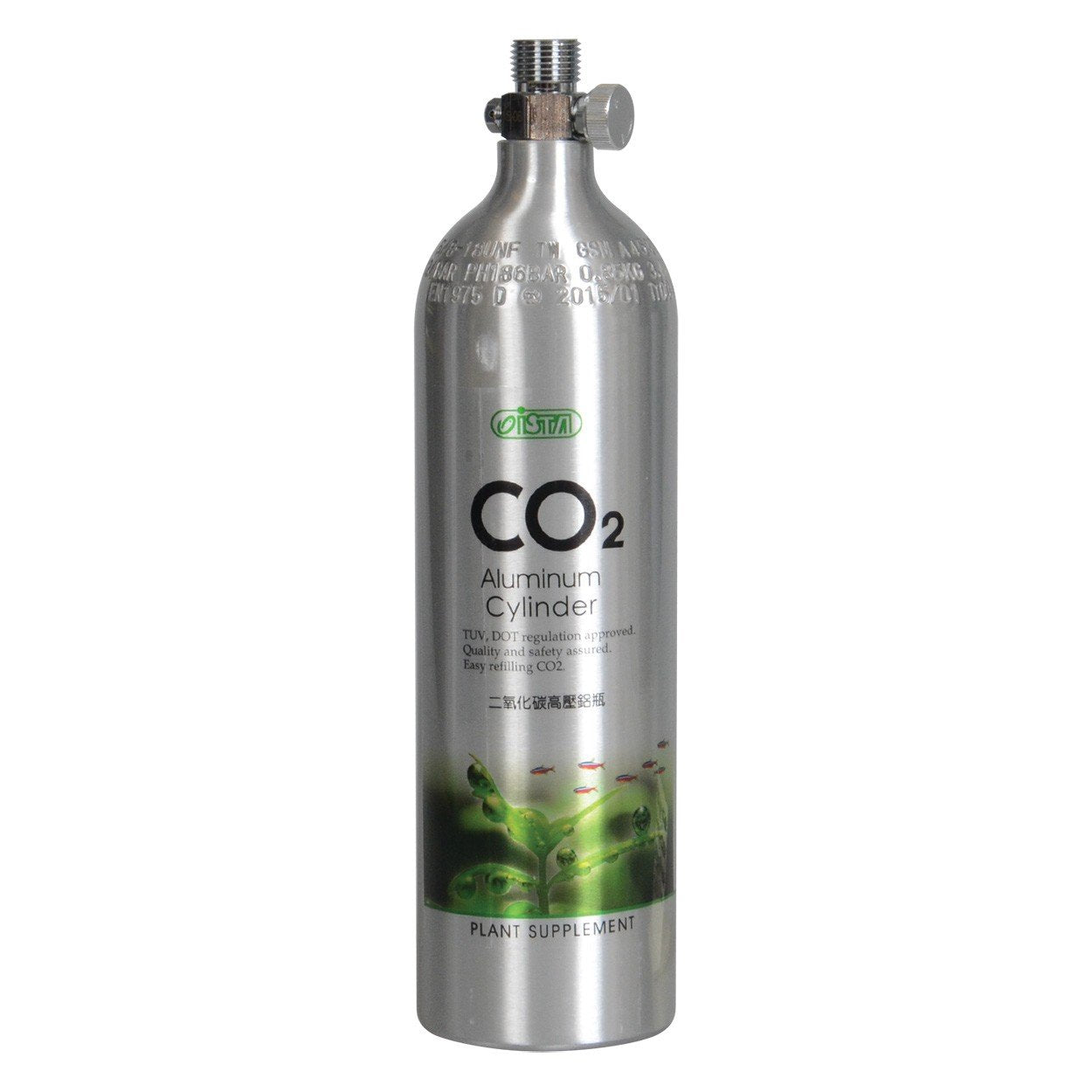 Ista Aluminum Co2 Cylinder 0.5L/0.47kg (Face Up)