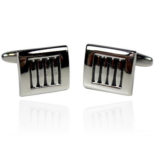 Black And Silver Square Cufflinks-Cufflinks-TheCuffShop-C00994-TheCuffShop.com.au