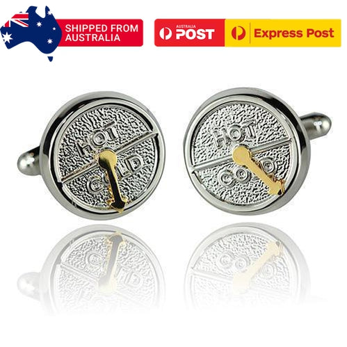 Hot And Cold Meter Cufflinks-Cufflinks-TheCuffShop-C01596-TheCuffShop.com.au
