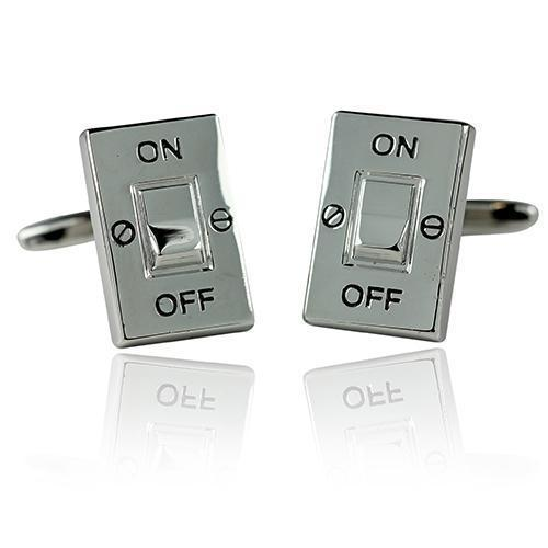 On-Off Switch Cufflinks-Cufflinks-TheCuffShop-C00502-TheCuffShop.com.au