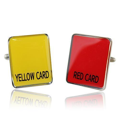 Red N Yellow Cards Cufflinks-Cufflinks-TheCuffShop-C00672-TheCuffShop.com.au