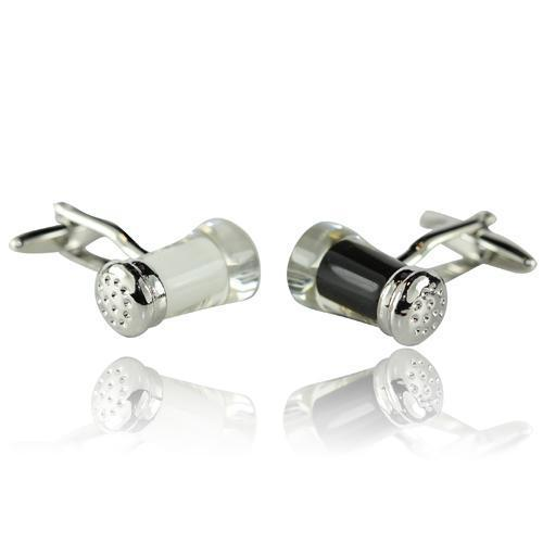 Salt And Pepper Cufflinks-Cufflinks-TheCuffShop-C01099-TheCuffShop.com.au