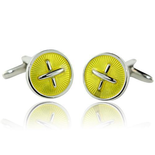 Yellow Cross Cufflinks-Cufflinks-TheCuffShop-C00210-TheCuffShop.com.au