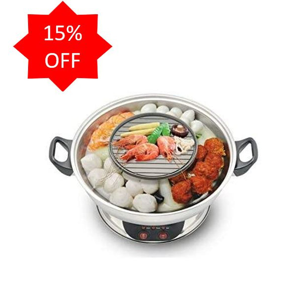 <b> Galaxy Electric Electric Hotpot with BBQ Grill</b> SET400A