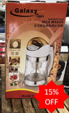 <b> Galaxy 1.3L Soymilk Maker Clear Glass</b> TL988