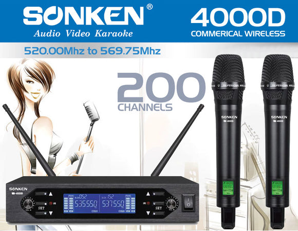 <b>Sonken WM4000D Commerical Wireless Mic</b>