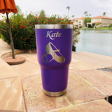 Custom Engraved TUMBLER; Personalized Tumbler; Logo, unique designs - 20 fl. oz