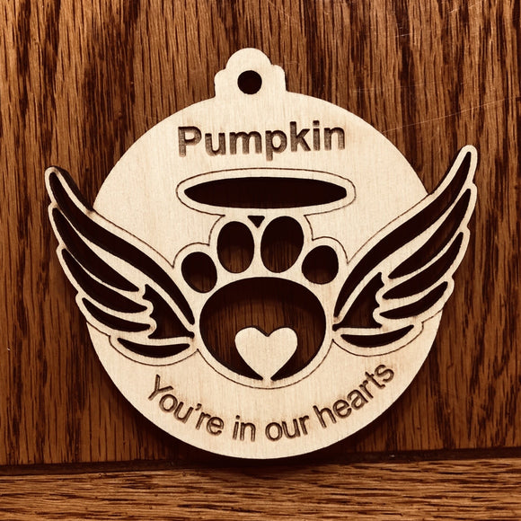 2020 Custom RIP Ornament, Pet Loss Personalized ornament, Dog Loss ornament, made to order