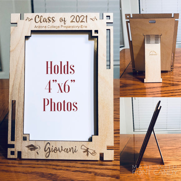 Class of 2021 Senior photo frame; Graduate engraved photo frame, personalized Graduate frame, 2021 Graduate photoframe